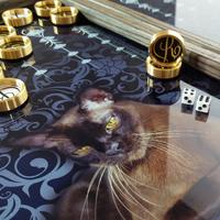 """Нарды """"Кошка"""" купить в Москве с разработкой эксклюзивного дизайн-проекта под заказ."""