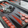 "Нарды стеклянные. Backgammon glass ""Mustang-Shelby-Cobra"" как дорогой подарок мужчине."