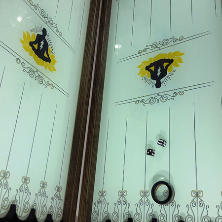 """Нарды-Backgammon """"Йог"""" купить в Москве с разработкой дизайна под заказ для подарка тестю мужчине."""