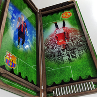 "Нарды ""MU-Barcelona"" хороший подарок мужчине фанату футбола."