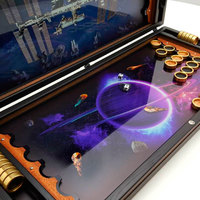"""Нарды """"Космос"""" (Backgammon Space) с летающими космонавтами, астероидами и кометами купить в Москве."""