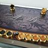 """Нарды металлические (Backgammon) купить в Москве с нанесением монограммы """"Инициалов"""" на металле."""