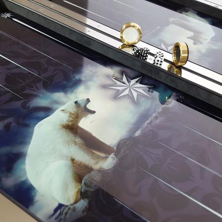 """Нарды """"Белый медведь"""" современный эксклюзивный подарок тестю на юбилей."""