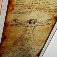 """Нарды """"Леонардо да Винчи"""" подарок учителю, ученому мужчине на Новый год 2019."""