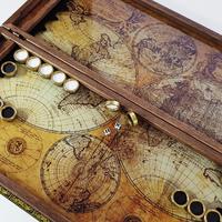 """Нарды """"Карта мира премиум"""" именной подарок взрослому, успешному мужчине."""