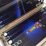 """Нарды """"MG"""" дорогой подарок папе на юбилей 50 лет из металла и стекла с разработкой дизайна."""