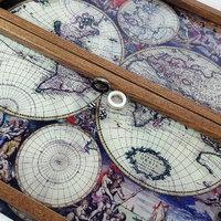 Нарды серая старинная карта Земли