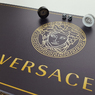 """Нарды """"Versace"""" черные, подарочные, стеклянные нарды для любимого мужа на Юбилей свадьбы."""