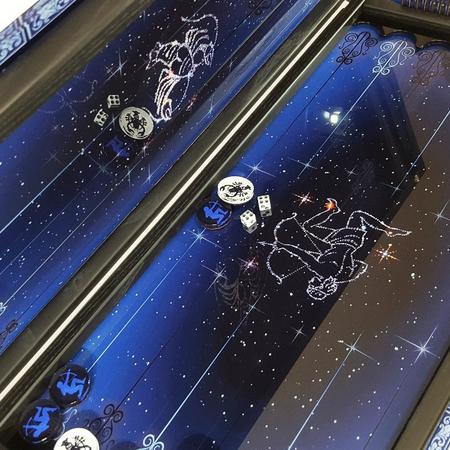 """Нарды Зодиак """"Стрелец и Рак"""" стеклянный подарок любимому мужу на годовщину свадьбы."""