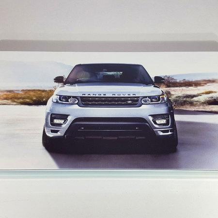 """Нарды """"Range Rover"""" стеклянный подарок мужчине автомобилисту на юбилей."""