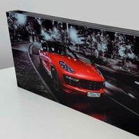 """Нарды """"Porsche Cayenne"""" с госномером под заказ как подарок любимому мужчине на юбилей 40 лет, день рождения."""