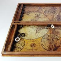 """Нарды """"Старинная карта Земли"""" UV-017"""