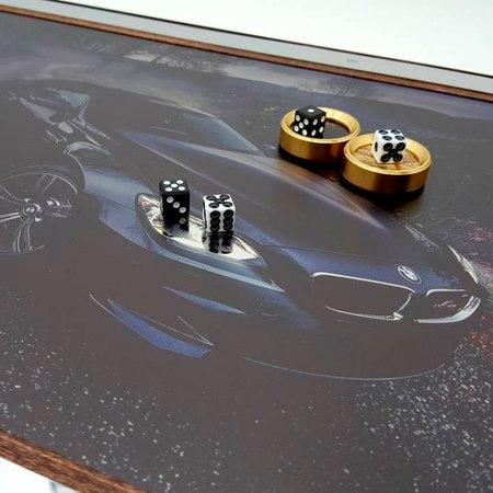 "Нарды VIP ""BMW 6"" подарок мужчине любителю спортивных машин."